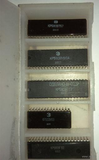 Ретро-микросхемы 5 шт. С коробкой. Одним лотом.
