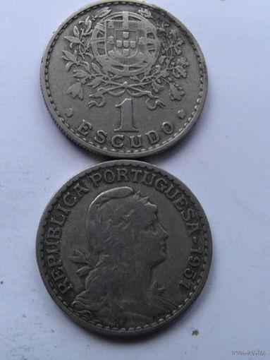 Португалия 1 эскудо 1951г No1  распродажа