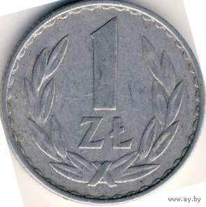 Польша 1 злотый 1987г.  распродажа