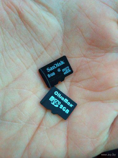 Флэш карта MicroSD flash накопитель 4 Gb Class 6