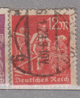 Германия третий рейх Профессии рабочие 1922 номинал 12 Водяной знак -2   лот 5   менее 50% от каталога