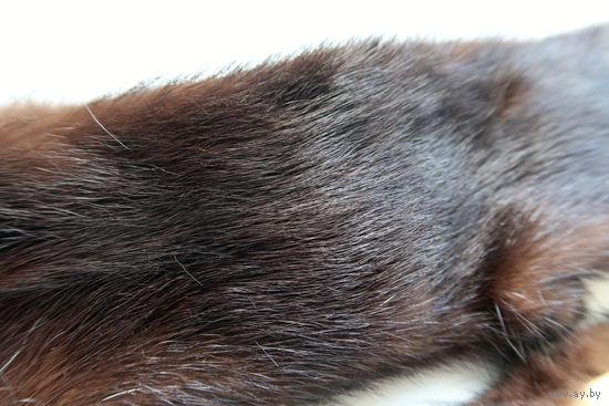 Норка (мех норки на воротник, шапку, для рукоделия и т. д.) длиной 92 см. Натуральный мех.
