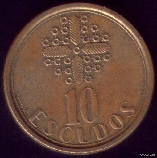10 Эскудо 1989 год Португалия