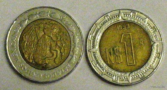Мексика, 1 песо, 1993, биметалл