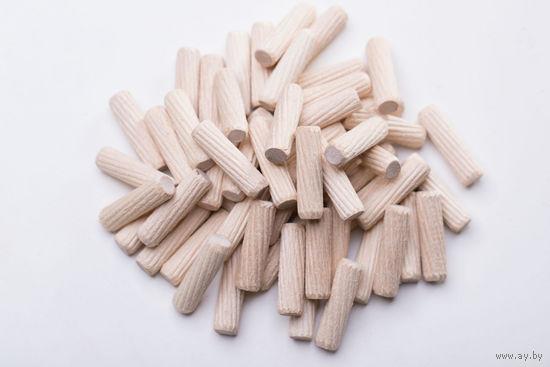 Деревянный мебельный шкант (дюбель, шип , штифт) M8x30mm Упаковка-1000 штук