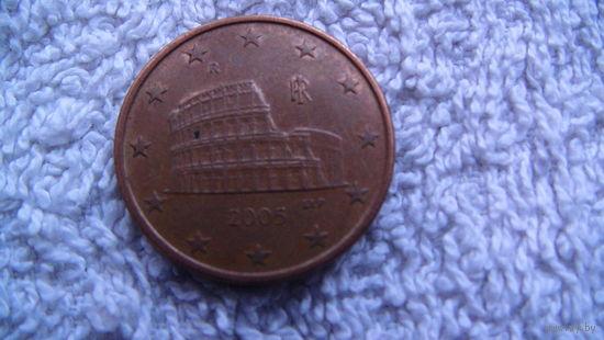 Италия 5 евроцентов 2005 г. распродажа