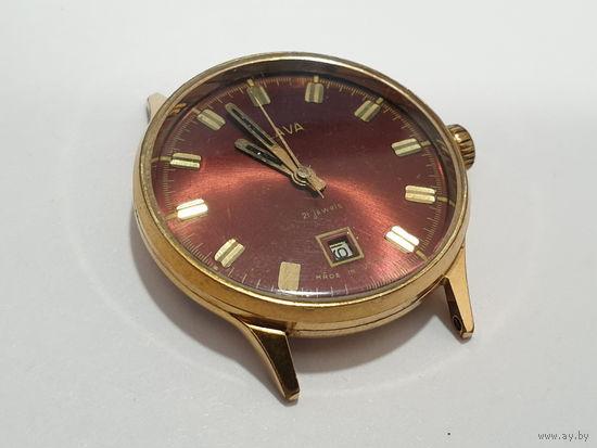 Часы SLAVA, позолота, на ходу