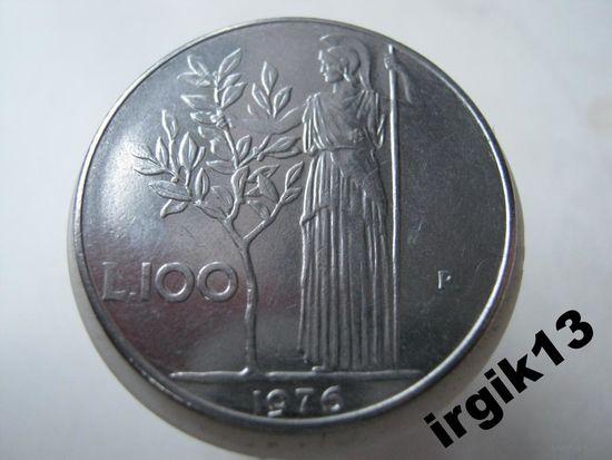 100 лир 1976 года. Италия
