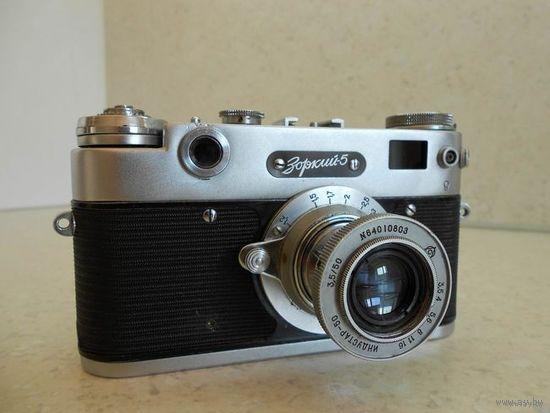 Фотоаппарат Зоркий-5 1958 г. с объективом Индустар-50 тубусным после полного сервиса