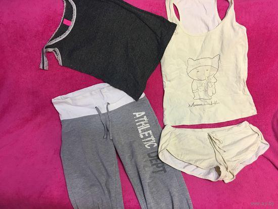 Одежда для дома пижама майка штаны Набором все вместе 44