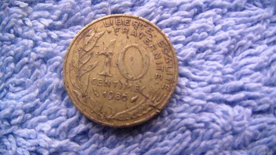 Франция 10 сантимов 1986г. распродажа