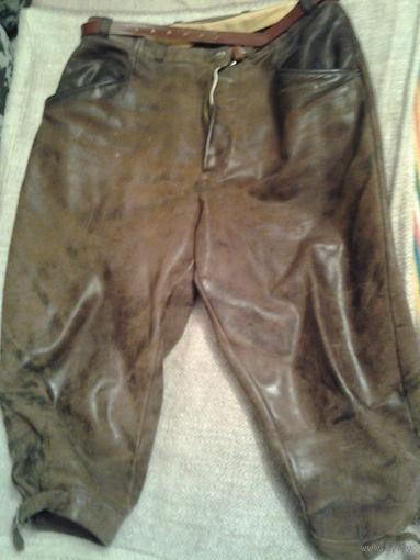 Штаны фирменные. Для байкера. Натуральная кожа.
