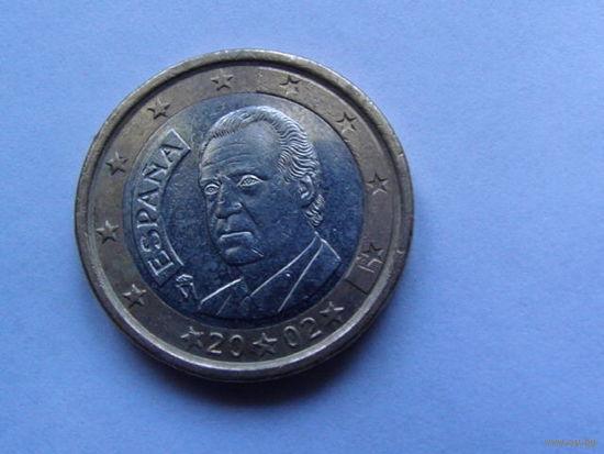 Испания 1 евро 2002г.  распродажа