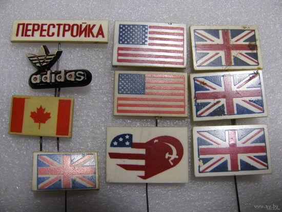 Значки. Флаги