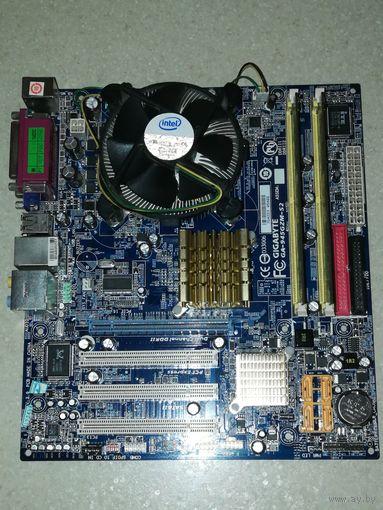 Процессор Intel Celeron 420 + материнская плата GA-945GMZ-S2 + оперативная память