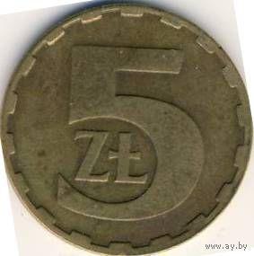 Польша 5 злотых 1984г.   распродажа