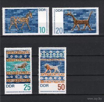 ГДР 1966 г. Mi No 1229-1232** Экспонаты  Музея Ближнего Востока В Берлине