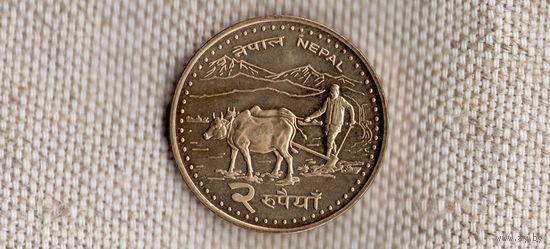 Непал 2 рупии 2006/Землепашец/(Li)