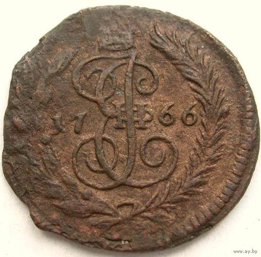 067 Полушка 1766 года.