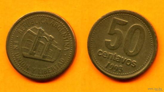 Аргентина 50 СЕНТАВО 1993г.  распродажа