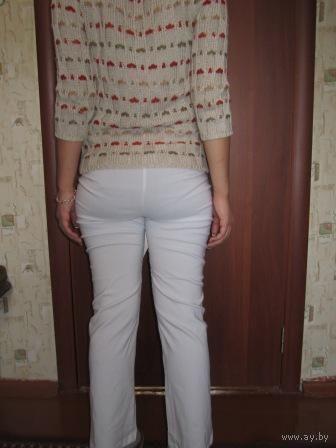 Брюки белые СТРЭЙЧ (до косточки) немецкий размер 36