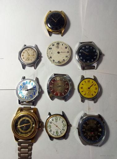 Часы механические под реставрацию 10 шт.,одним лотом.Старт с 2-х рублей без м.ц.Смотрите другие лоты,много интересного.