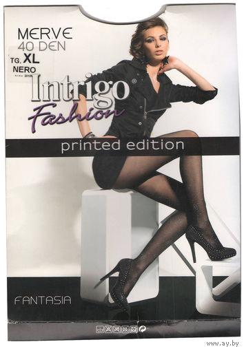 Эластичные матовые черные колготки Intrigo 40 den