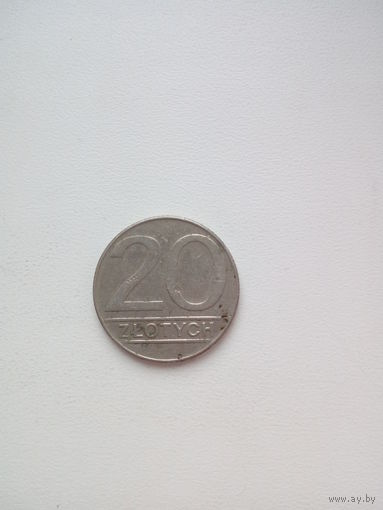 20 злотых 1989г. Польша