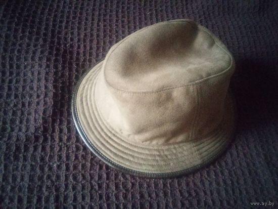 Шляпа женская, 56 р-р, оливковый цвет