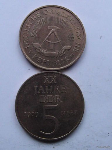 ГДР (Германия), 5 mark, 1969г.   распродажа