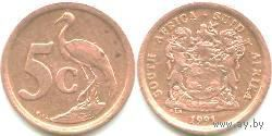 ЮАР 5 cents 1990г.  распродажа