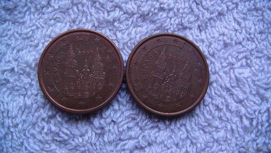 Испания 5 евро центов 2009 г. распродажа