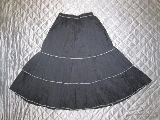 Юбка пышная воланами, из жатой ткани, р.40-42