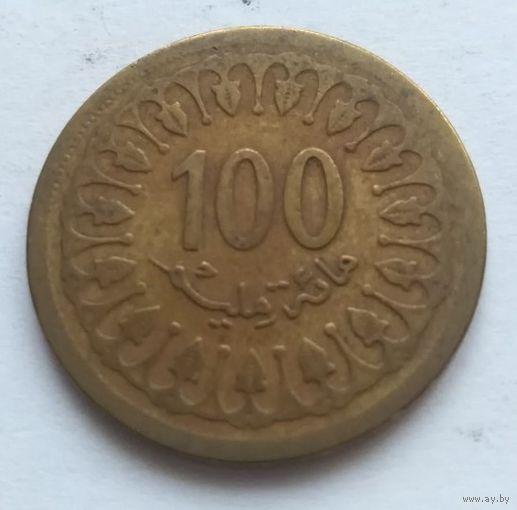 Тунис, 100 миллимов 1983 год