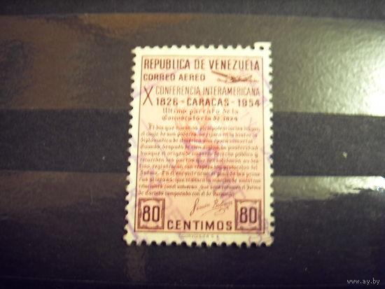 Старенькая марочка Венесуэлы авиация самолет (1-10)