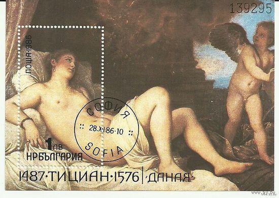 500 лет со дня рождения Тициана. Серия + блок + м.л. 1986 живопись, искусство Болгария
