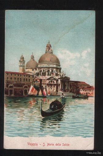Италия  Венеция Santa Maria della Salute  литография