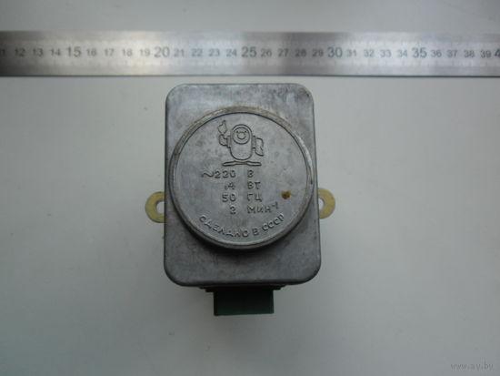 Электродвигатель с редуктором 2 об/мин 220 вольт