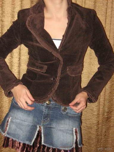 Пиджак женский штроксовый шоколадный