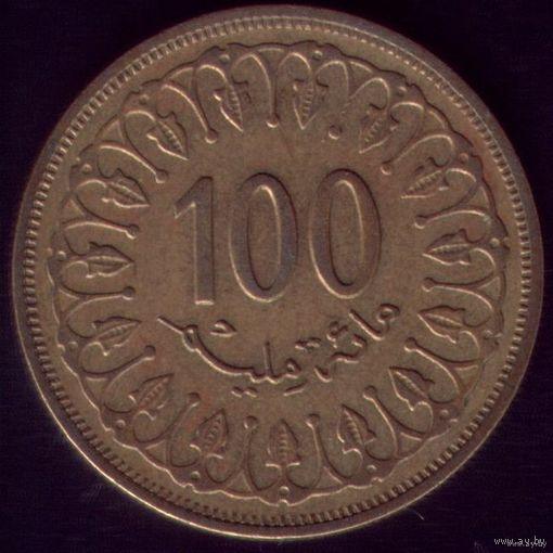 100 миллим 1983 год Тунис