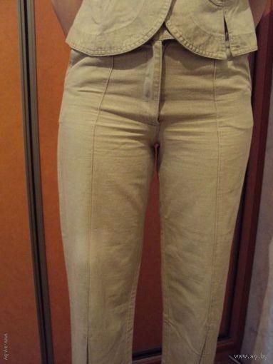 Жилетка+ брюки, б.у. разм. 40( европейский), наш 46, Польша, 100% хлопок.Цена снижена.