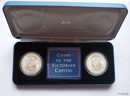 Австралия. Комплект монет.Две монеты по 10 долларов 1998г.Трамвай и Стадион.