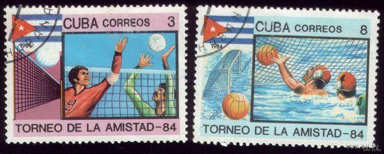 2 марки 1984 год Куба Турнир дружбы