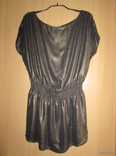 Шикарная удлиненная блузка H&M в греческом стиле, нарядная, р.46-48. Новая.