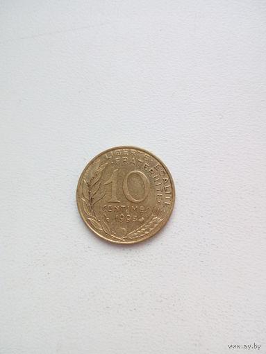 10 сантимов 1998г. Франция
