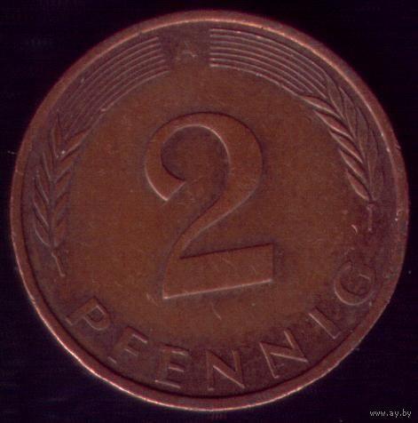 2 пфеннига 1994 год ФРГ А
