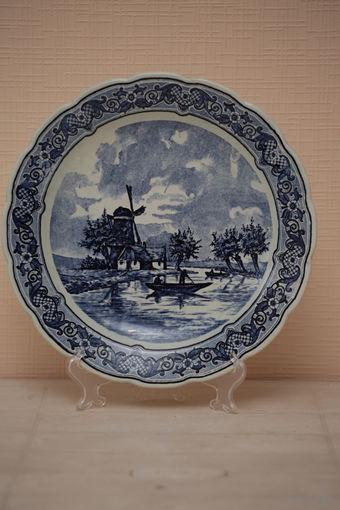 Настенная тарелка королевской фабрики Дэльфт, Голландия  31см.