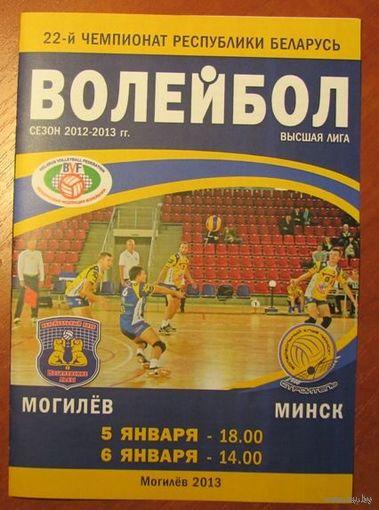 Программа (волейбол). Могилевские Львы (Могилев) - Строитель (Минск) 5-6.01.2013