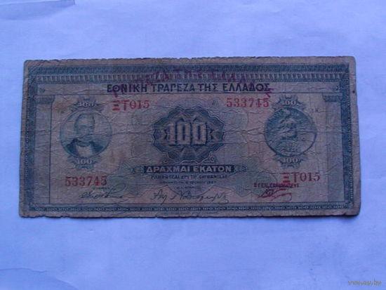 Греция 100 драхм 1927 год    533745   распродажа
