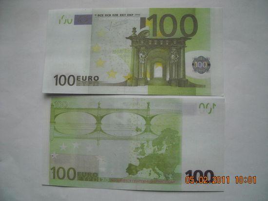 100 Евро ( сувенир, подарок ) пресс    распродажа